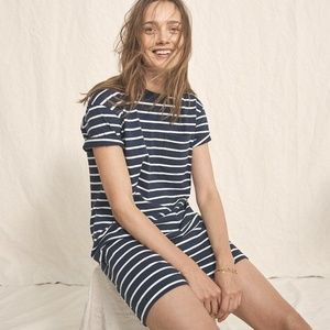 MADEWELL Striped Pocket Tee Dress Blue {J37}
